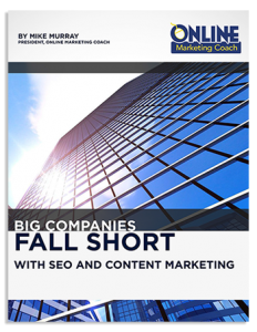 seo content marketing mistakes by big companies