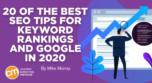 SEO Google tips and keywords.